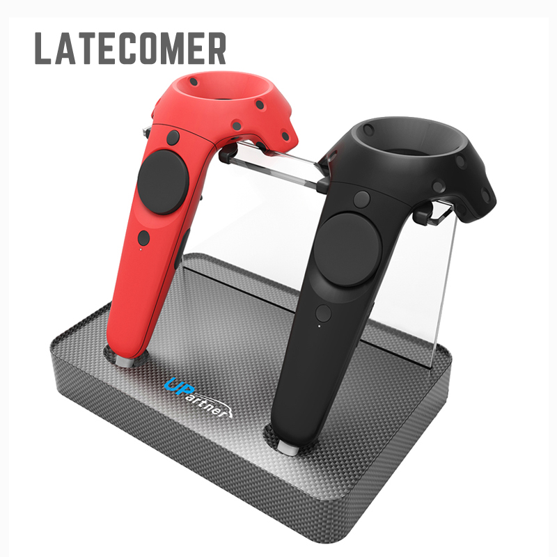 Controller wireless magnetic adsorption Charge Double Charging Station For HTC VIVE VR Controller Double Handle Desktop Charger 2 pcs new charging dock charger station for dual playstation 4 ps4 wireless controller