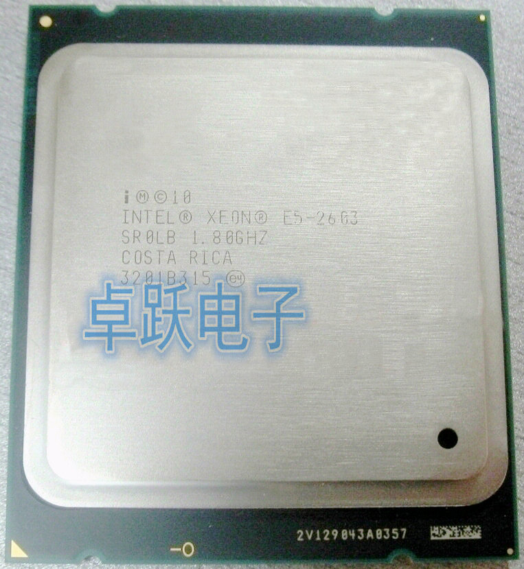 US $5 0  Original Intel Xeon E5 2603 E5 2603 CPU processor 1 80GHZ  FCLGA2011 80W 10MB Quad Core Free shipping-in CPUs from Computer & Office  on