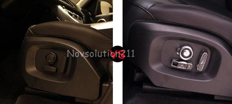 Car 8pcs Decor Seat Adjustment Cover Trim For Range Rover Evoque 2016
