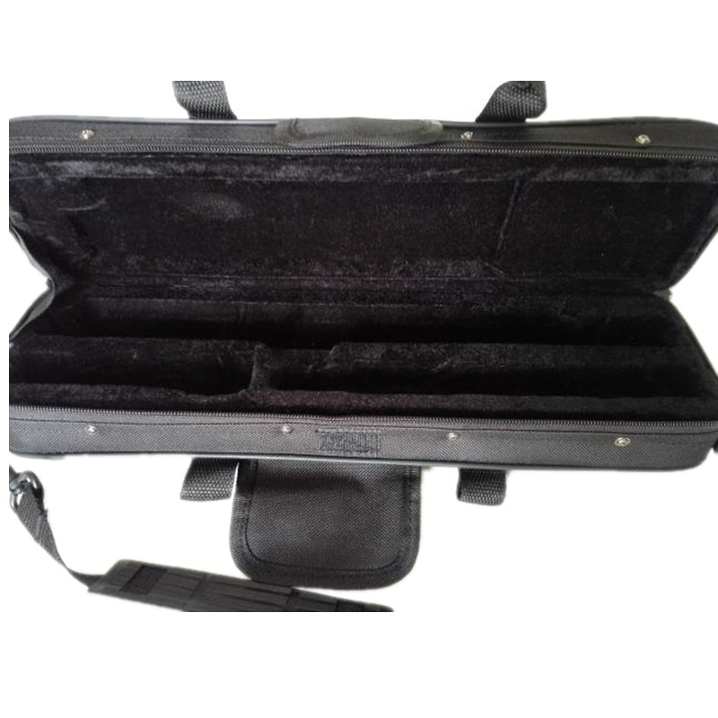 Professional portable bag for western concert 16 17 holes flute gig box cotton padded waterproof durable case cover backpack new top quality professional portable durable oboe hard case bag hand made nice work waterproof leather instrument box package