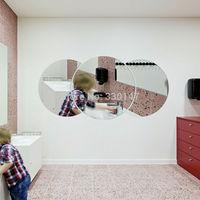 60 * 28 cm grand rond demi - cercle simple mur sticker miroir 3d acrylique pour la décoration intérieure livraison gratuite
