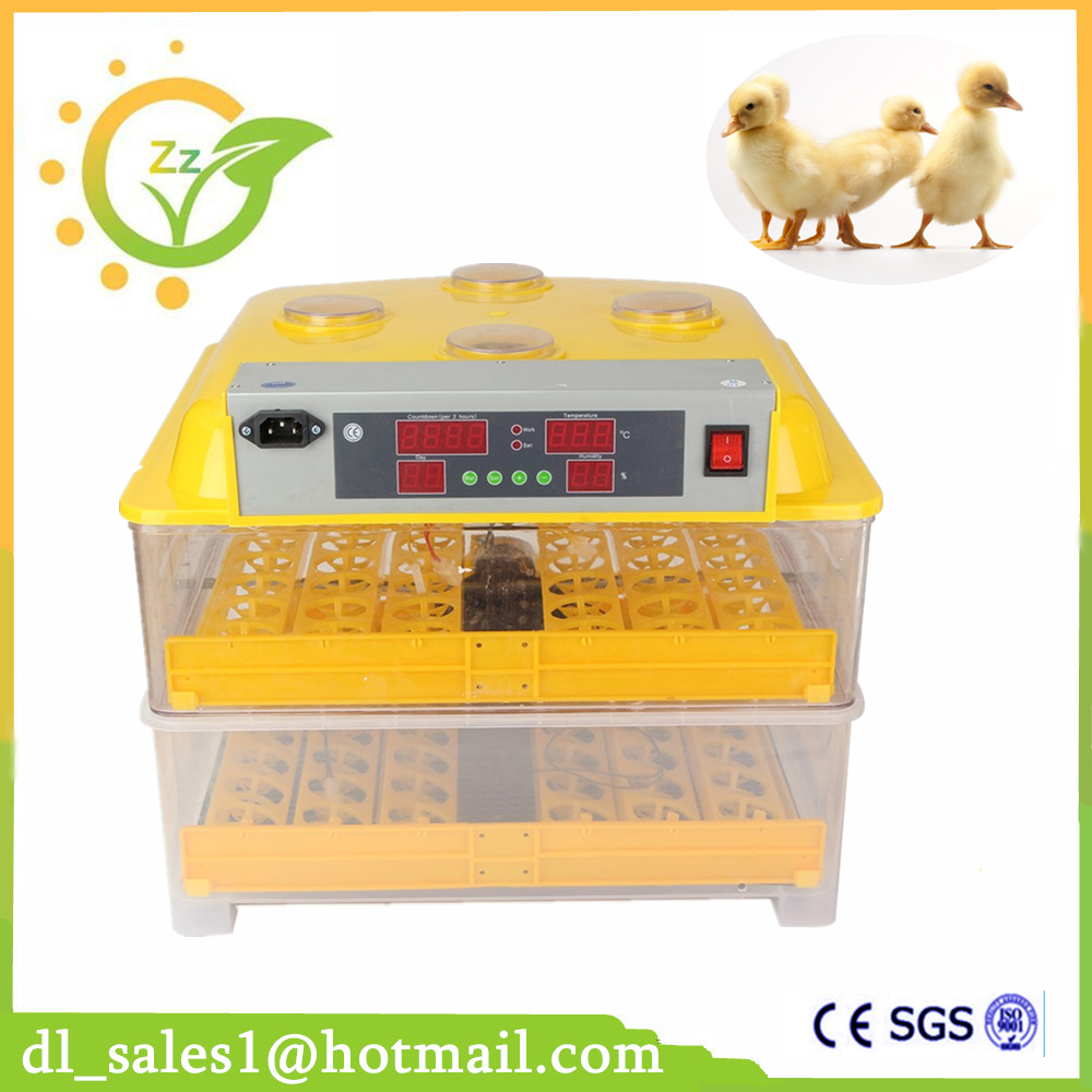 New Design Mini Brooder 96 Egg Automatic Incubator Controller Poultry Hatchery Machine For Chicken Duck Quail Birds incubator automatic parts automatic controller for sale xm 18