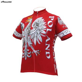 2018 nowa klasyczna Polska Polska zespół czerwony Maillot jazda na rowerze Jersey dostosowane Orolling tanie i dobre opinie Koszulki Enzym myte Sprężone Przeciwzmarszczkowy Oddychające Anty-pilling Kieszenie Anti-shrink Anti-pot Szybkie suche