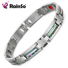 Rainso Health Titanium Bracelet lovers Bio Energy Bangle Magnetic Care for Women Men Jewelry Christmas gifts