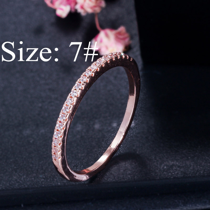rose gold size 7