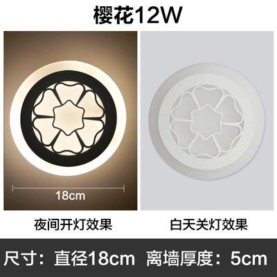 ФОТО 2018 LED lamp Sakura patterns trendy fashion elegant bedroom bathroom lounge new design children room Study room and so on