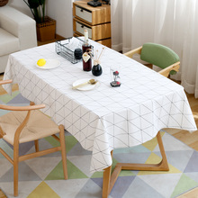 Incroyable Modern Square Plaid Black And White Waterproof Table Clothes Cloth Cotton  Linen Coffee Table Tablecloth Tablecloths