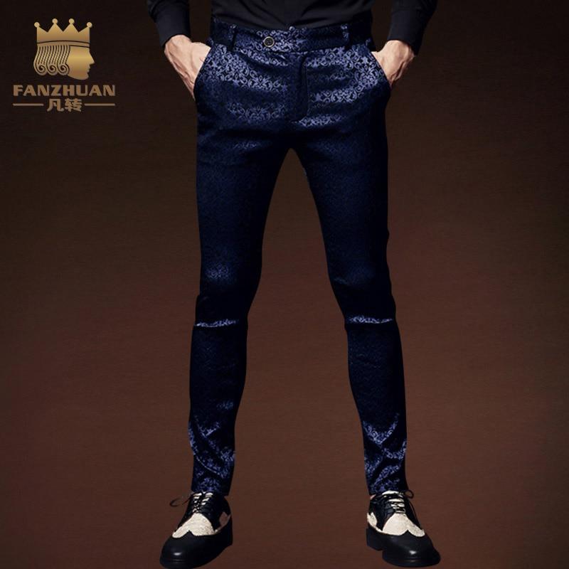 Amytong Mens Luxury Handmade Original Fashion Design Bow Tie blue