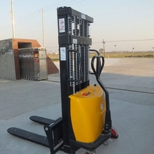 1500kg Portable Hydraulic Semi Electric Pallet Stacker With Double Pallet Battery Stacker with CE,High Quality 2.5 m