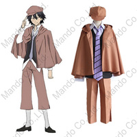 Anime Bungo Stray Dogs Super reasoning Edogawa Ranpo Cosplay Costumes mans uniform suit Halloween outfit 5pcs set