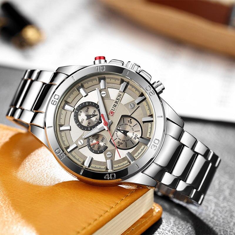Relogio Masculino CURREN Men's Watches Stainless Steel Band Analog Quartz Wristwatch Luxury Watch Men clock male reloj hombre все цены