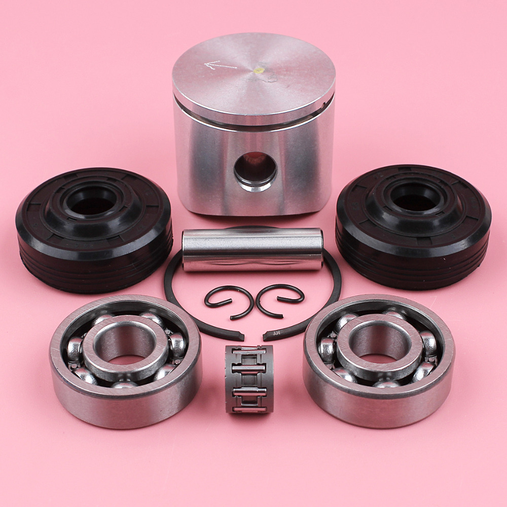 40mm Piston Pin Ring Circlip Crank Bearing Oil Seal Needle Bearing For Husqvarna 41 141 141LE 142 142E Chainsaw Parts