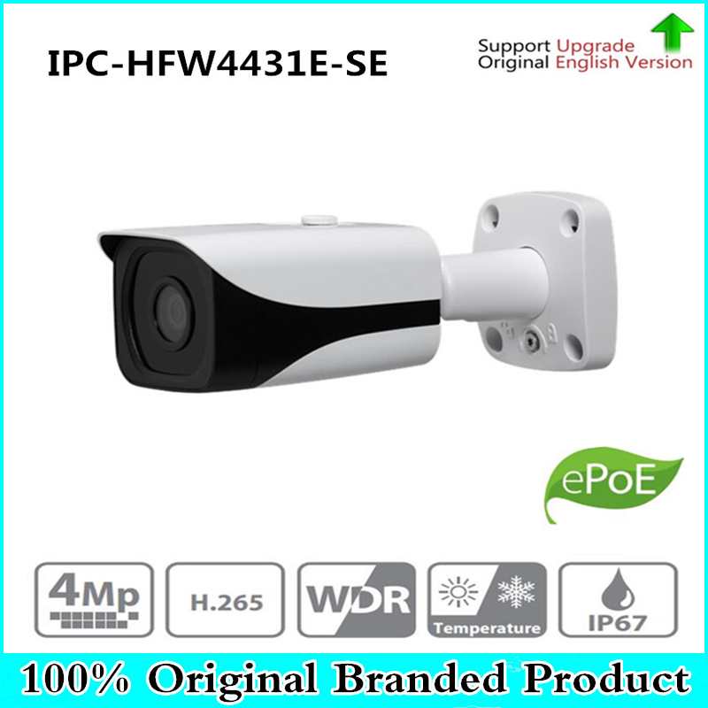 DH Free Shipping Surveillance IP Camera 4MP WDR IR Mini Bullet Network Camera IP67 With POE With Logo IPC-HFW4431E-SE free shipping dahua security cctv ip camera 5mp wdr ir mini bullet camera with poe ip67 no logo ipc hfw1531s