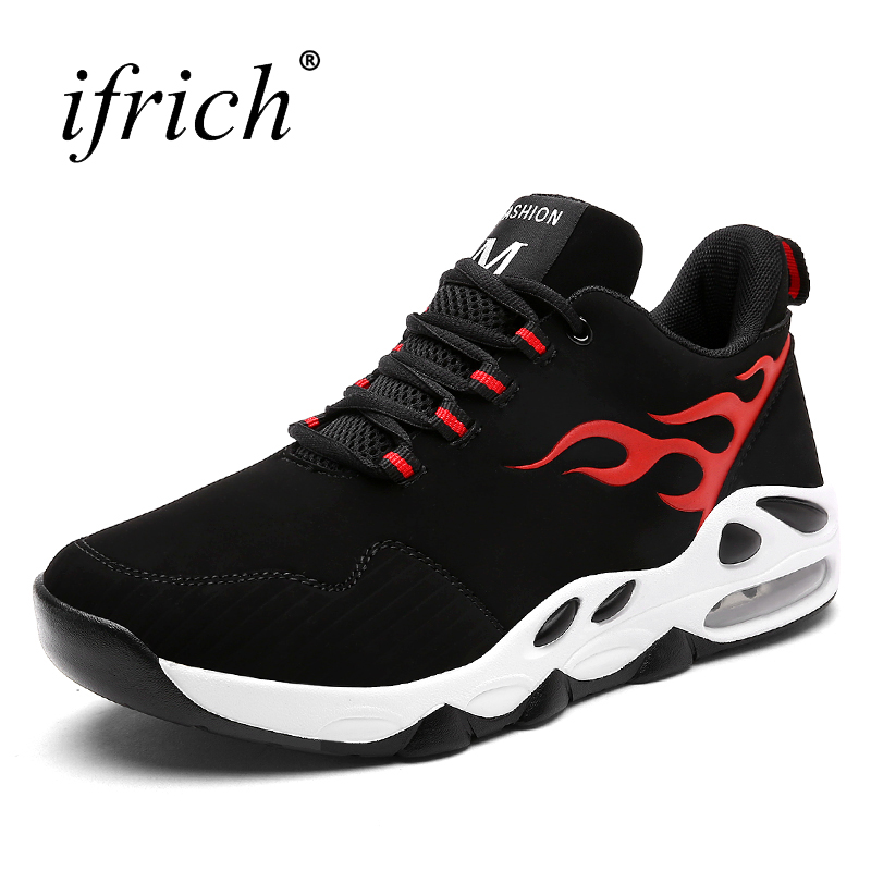 New Arrival Running Shoes Men Trainers Air Cushion Mens Walking Jogging Sneakers Black Red Sneakers Sport Shoes Mens Runners