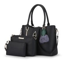 Mode marke frauen tasche 3/set damen handtaschen leder großen schulter crossbody taschen bolsas feminina geldbörsen und handtaschen