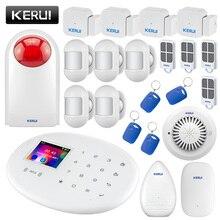 KERUI W20 беспроводная WiFi GSM домашняя система охранной сигнализации 2,4 дюймов цветной экран охранный пожарный дым утечка воды сигнализация комплект