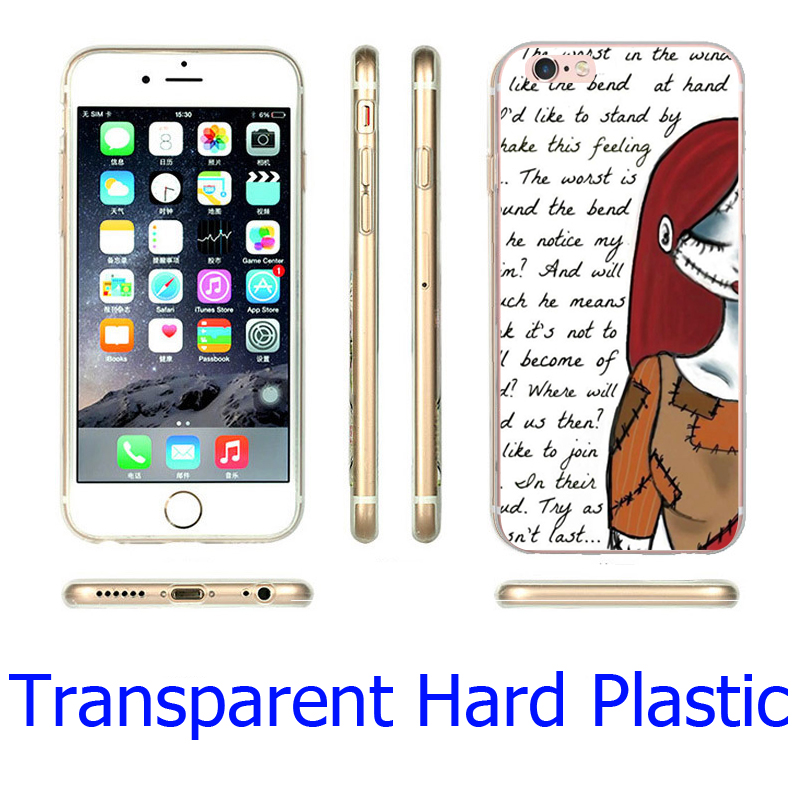 nightmare before christmas sally women Hard Transparent Phone Case for iPhone 7 6 6S Plus 4 4S 5C 5 SE 5S Cover