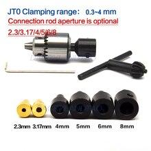 Микро 0,3-4 мм Jt0 сверлильные патроны с коническим креплением JTO сверлильный патрон+ 2,3 мм/3,17 мм/4 мм/5 мм/6 мм/8 мм Муфта Вала