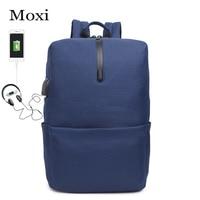 New Backpack Male USB Charging Backpack Notebook Laptop Back Packs Teenager Men Simple Backpack Travel Schoolbag