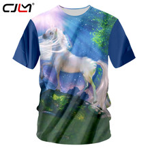 CJLM New Hip Hop 3d T Shirt Printed Rainbow Unicorn Horse T-shirts Men Harajuku Short Sleeve Tee Shirt Camiseta Funny Tshirt Top(Hong Kong,China)