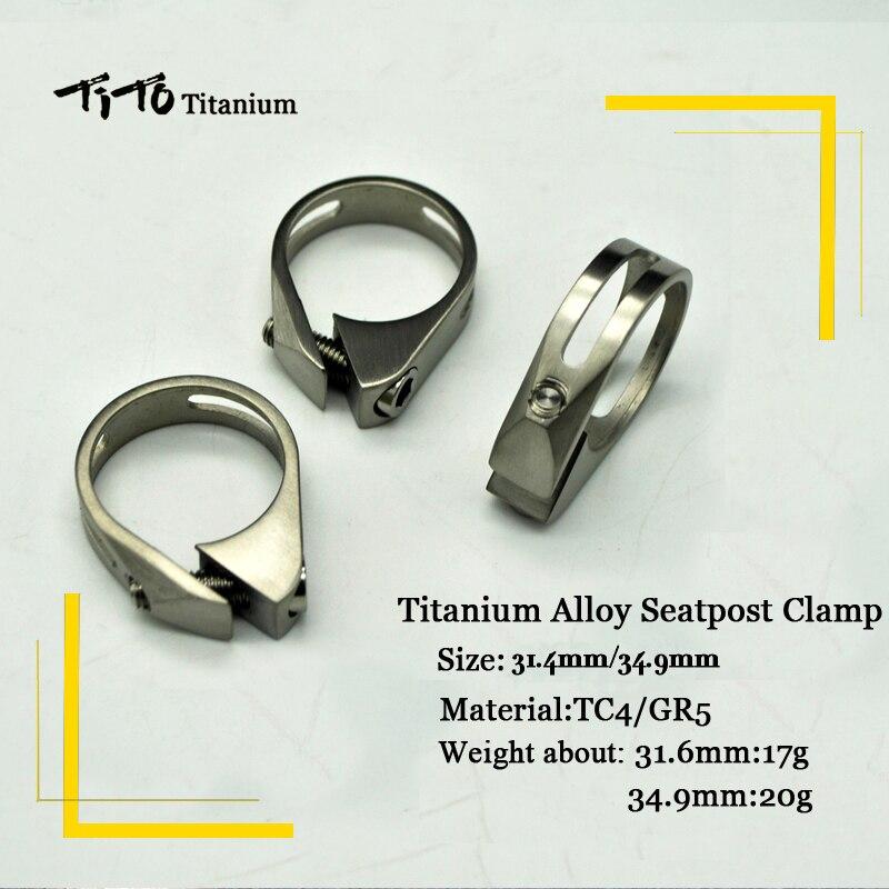 Цена за Тито Велосипедов Горный Велосипед Дорожный Велосипед подседельный зажимы titanium 34.9 мм/31.6 мм titanium alloy подседельной трубы клип