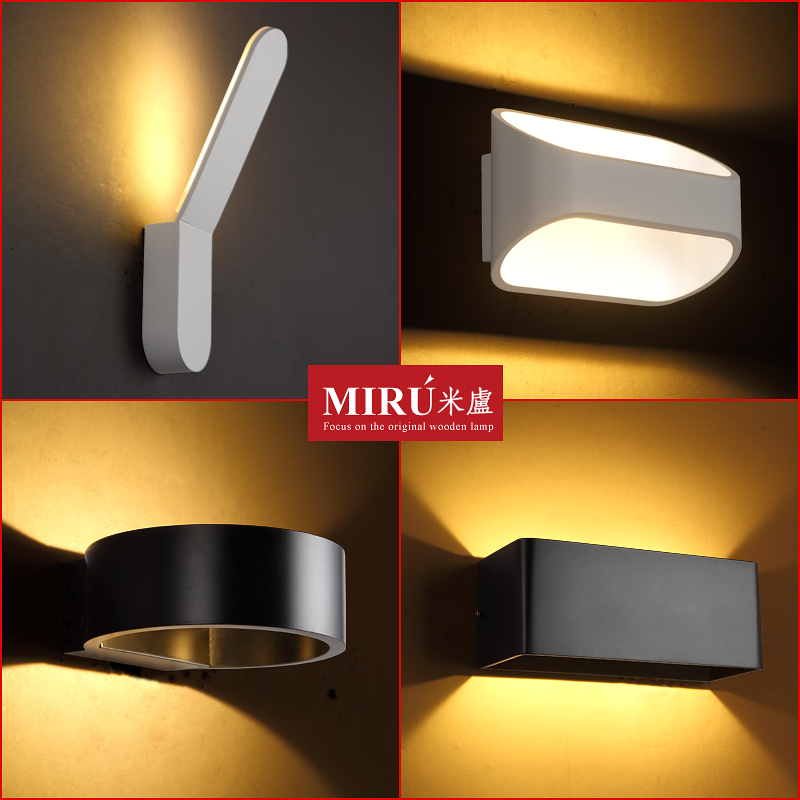 ФОТО Modern simple creative LED wall lamp bedside lamp balcony wall decorative lighting art bedroom wall lighting
