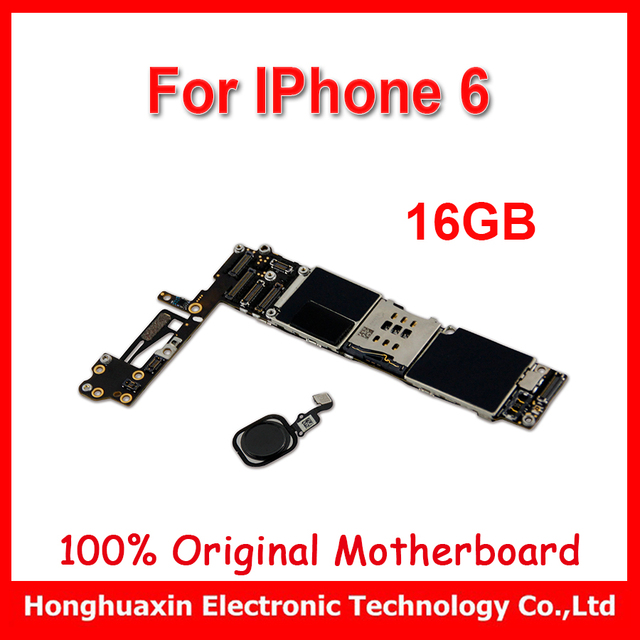 new style f74dc cbc63 US $100.0 | original motherboard black for iphone 6 with Touch ID 16GB  Factory unlock mainboard with fingerprint logic board IOS 11 system-in  Mobile ...