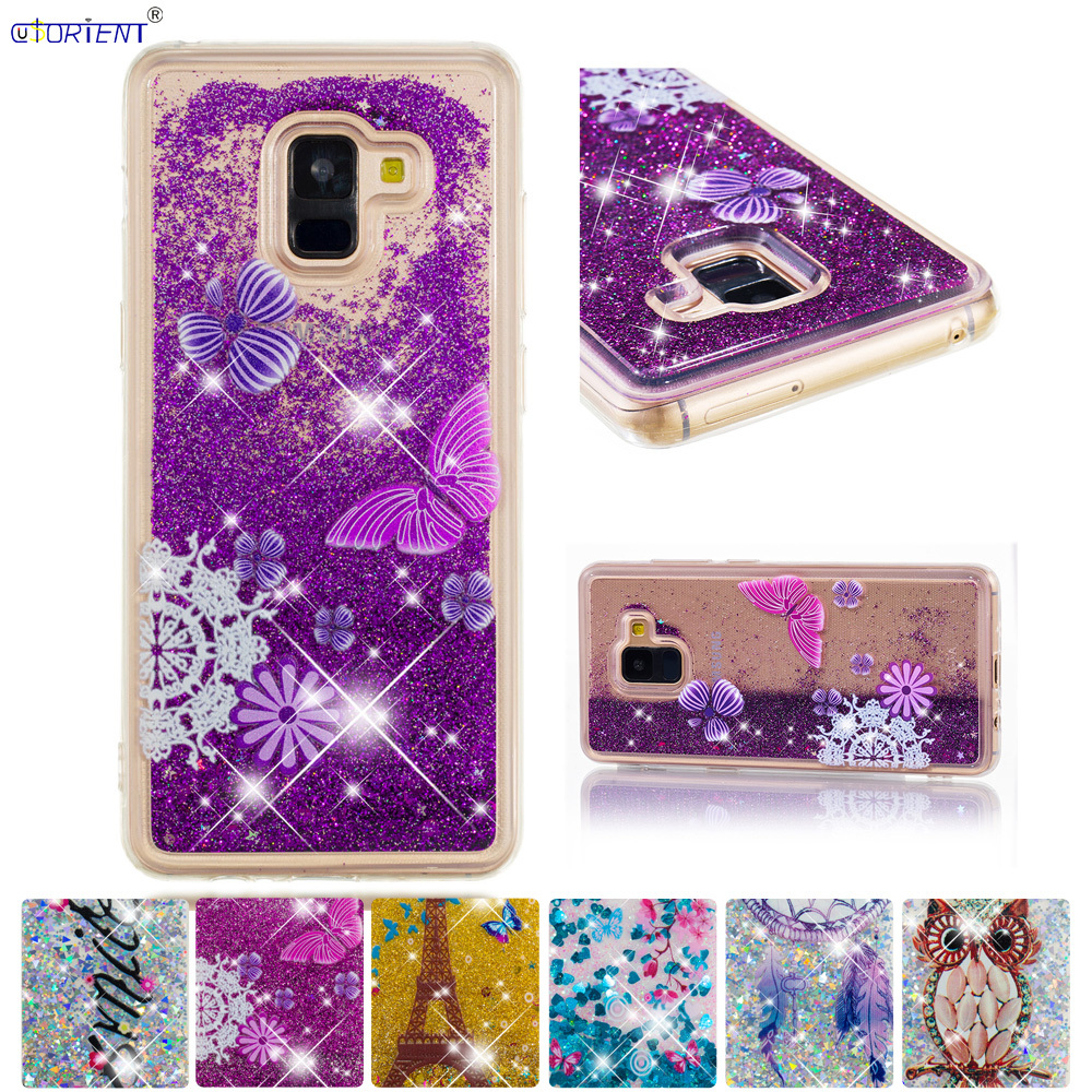 Phone Bags & Cases A8 Plus 2018 Glitter Quicksand Liquid Phone Cover Sm-a730f/ds Sm-a730x A730f Soft Back Funda Enthusiastic Bling Case For Samsung Galaxy A8