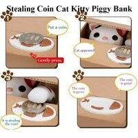 Nette Itazura Stehlen Münze Katze Penny Cents Sparschwein Spar-geld-kasten Kinder Kinder Vorhanden Geschenk