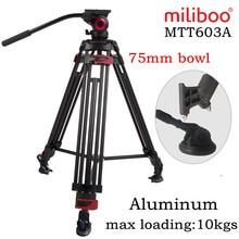 10 kg Last Miliboo IronTower MTT603A Professionelle Video-kamera-stativ Heavy Duty Aluminium Stativ mit Fluidkopf MYT802 Kit