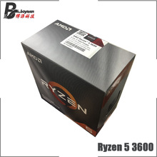 AMD Ryzen 5 3600 R5 3600 3.6 GHz 6 Core 12 ด้าย CPU โปรเซสเซอร์ 7NM 65W L3 = 32M 100 000000031 ซ็อกเก็ต AM4 ใหม่และพัดลม