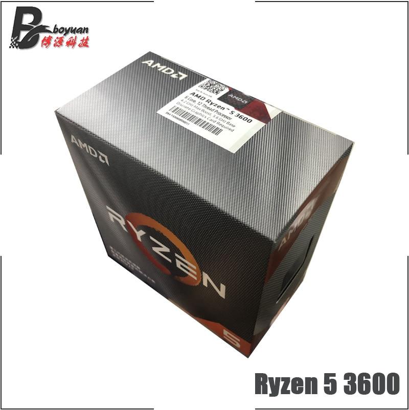 Процессор AMD Ryzen 5 3600, 3,6 ГГц, 6-ядерный процессор с двенадцатью потоками, 7NM, 65 Вт, L3 = 32 МБ, 100-000000031, сокет AM4, с вентилятором