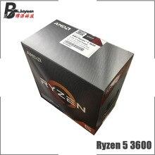 AMD Ryzen 5 3600 R5 3600 3.6 GHz sześciordzeniowy dwunastogwintowy procesor CPU 7NM 65W L3 = 32M 100 000000031 gniazdo AM4 nowe i z wentylatorem