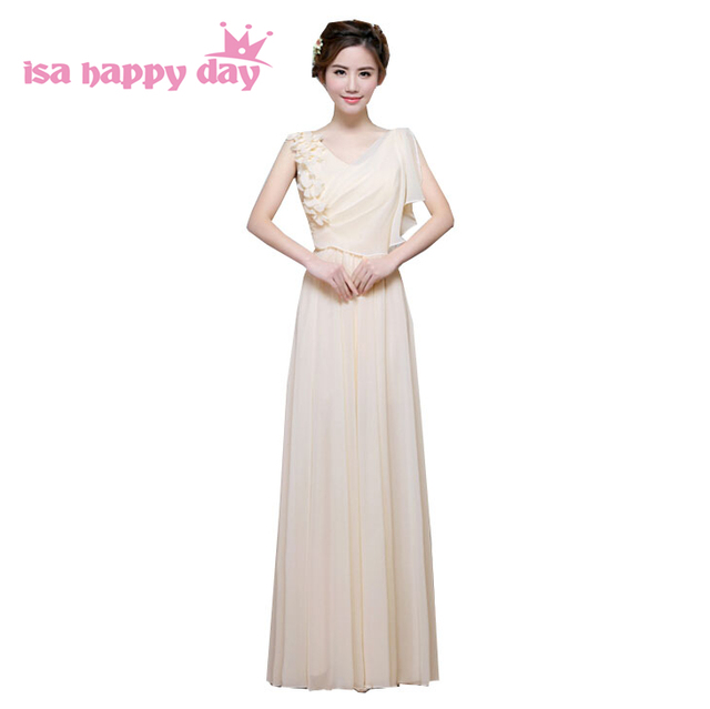 b7a9752345c5a US $36.01 5% OFF|women spring summer champagne elegant ladies long womens v  neck dinner party evening dress gown dresses 2019 fashion H3568-in Evening  ...