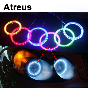 Atreus 2PCS For Lexus Honda Civic Opel astra h j Insignia Mazda 3 6 Kia Rio Ceed Volvo Lada Car LED Angel Eyes COB DRL Lights image