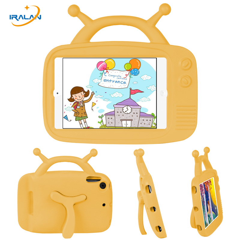 Kids Lovely Antenna baby EVA Case For Apple iPad Mini 1 2 3 4 Foam Shockproof Handle stand Cover for ipad mini 7.9 inch+stylus kids handle stand eva shockproof new tablet cover case for 9 7 inch ipad 2 3 4 air3 ipad pro 9 7 tablet best for kids gift