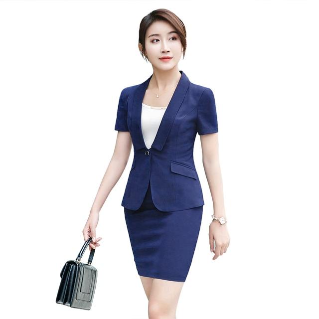 women office dress suits & blazer elegant pencil dress blue blazer ...