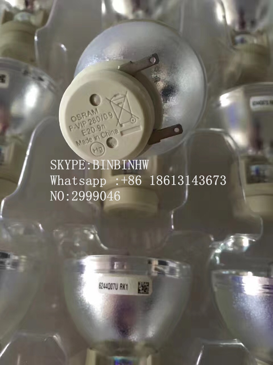 Genuine Original Replacement Bare Bulb OSRAM P-VIP 280/0.9 E20.9n