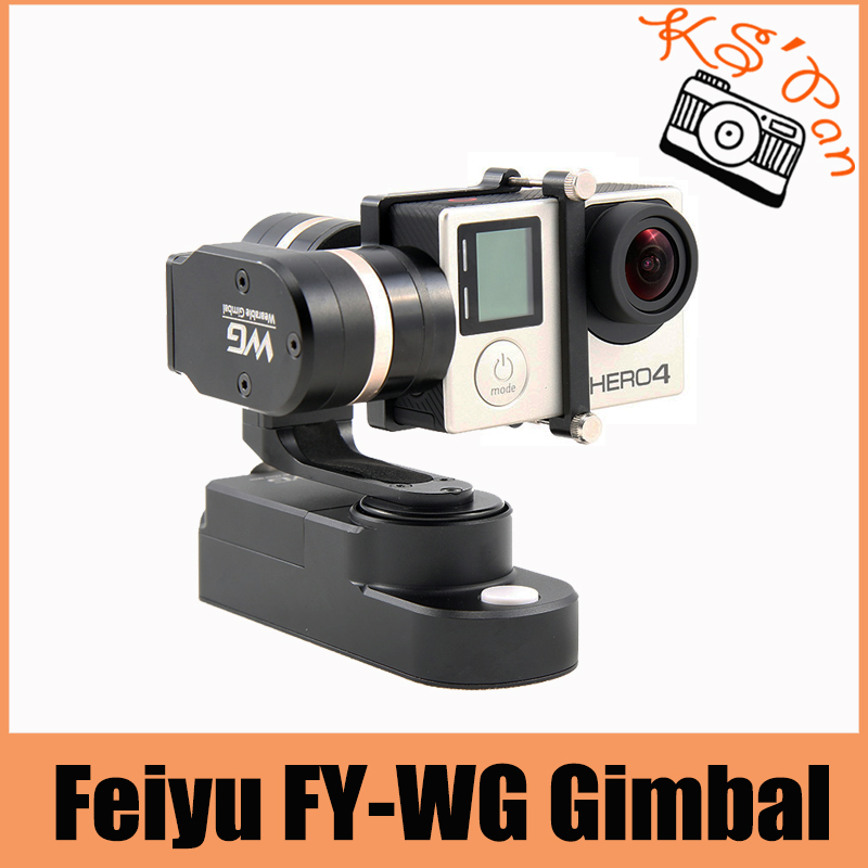 Feiyu FY-WG 3-axis Wearable Gimbal Stabilizer for Gopro Hero 3 3+ 4 LCD Touch BacPac fy wg lite feiyu wearable gimbal affordable single axis gimbal stabilizer for gopro 3 3 4 camera pk wg zhiyun smooth c dji osmo