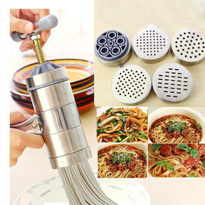 Keythemelife Manual Kitchen Pasta Noodle Maker Spaghetti Press pates Machine Vegetable Fruit Juicer Pressing Machine C2 ...