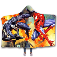 Fans Wear Venom Spiderman Sleeveless Hoodies Casual Coat Movie Superhero Hooded Marvel Cosplay Blanket Unisex Winter Hoodie