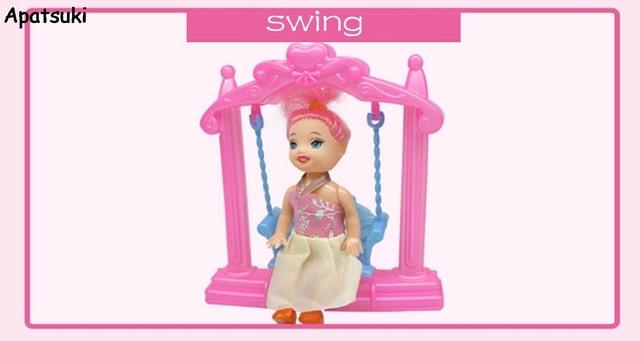 Miniatur Doll Aksesori Berayun untuk Boneka Kelly 1 12 Mainan untuk Rumah  Boneka Barbie Klasik 31fa58aa53