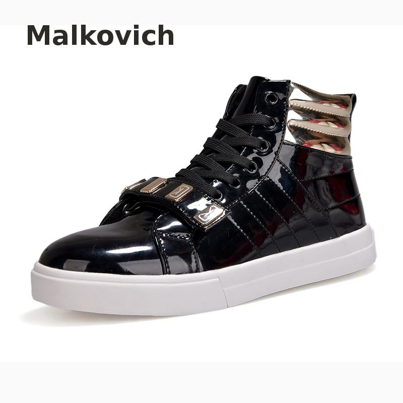 New 2017 High Quality Men Shoes Fashion High Top Men's Casual Shoes Breathable Canvas Man Lace Up Brand Shoes Black fonirra new fashion high top casual shoes for men ankle boots pu leather lace up breathable hip hop shoes large size 45 728