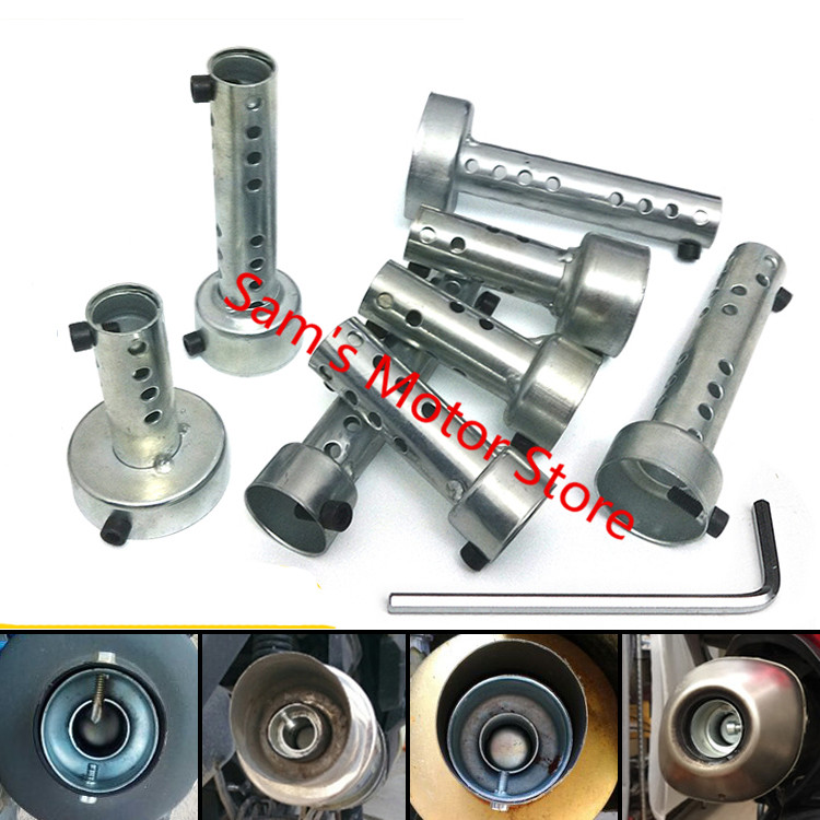 US $13 0 |Universal 3 5/4/4 8/5 1/6CM Modified Racing Scooter Motorcycle  Exhaust Muffler Pipe Quiet Baffles-in Covers & Ornamental Mouldings from