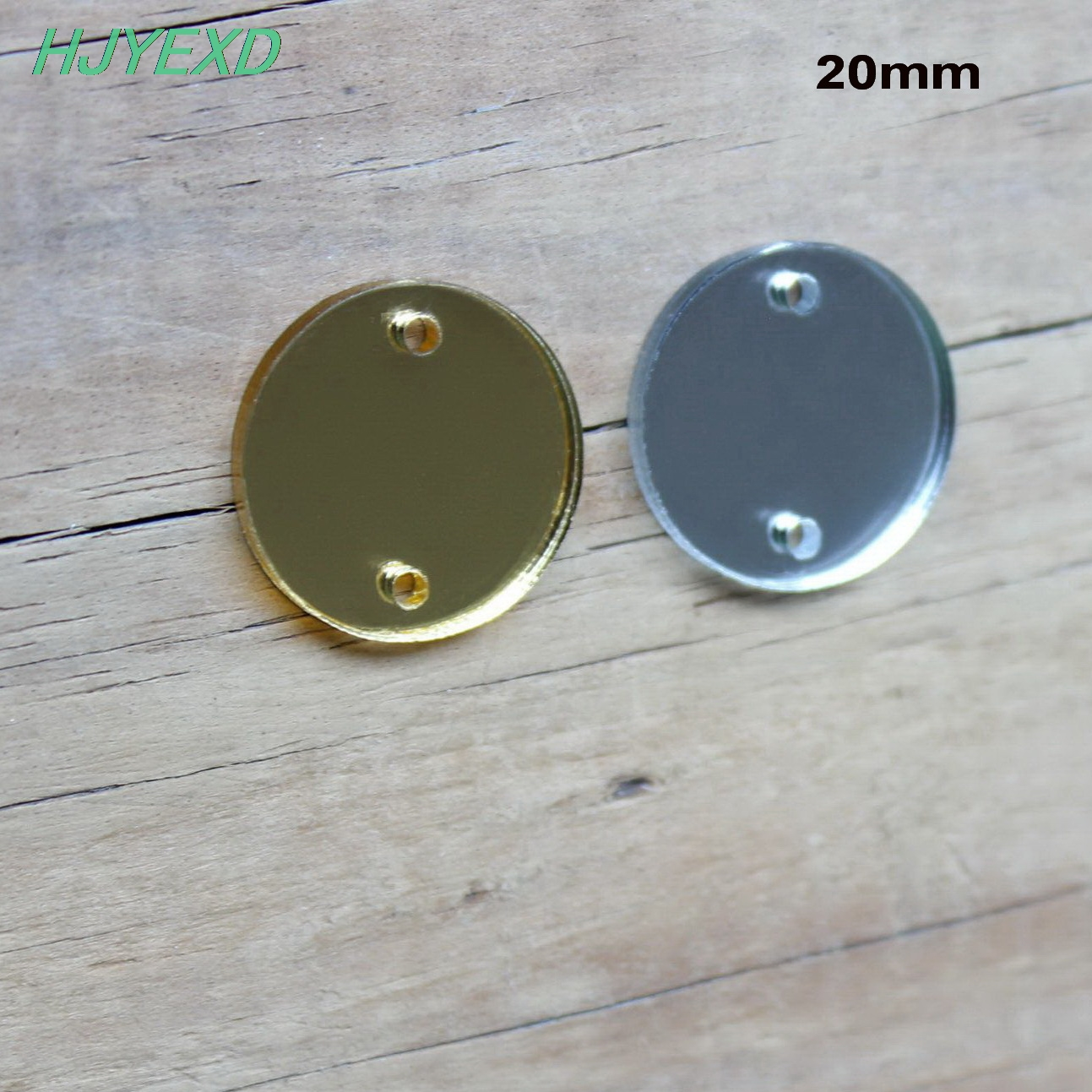 16/20mm/25/30/38mm Acrylic Circle Earrings 2 Holes Jewelry Accessories Disc Gold & Silver Mirrors Laser Cut -AC1001