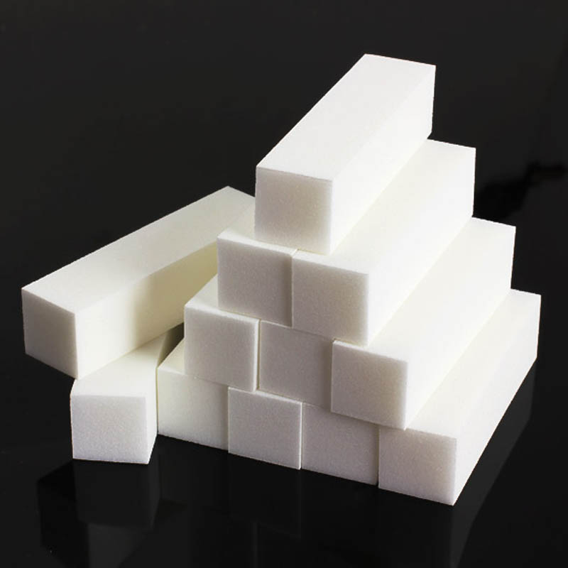 Hot 12Pcs White Buffer Sanding Block Files Grit Manicure Nail Art Tips Tool Wyt77
