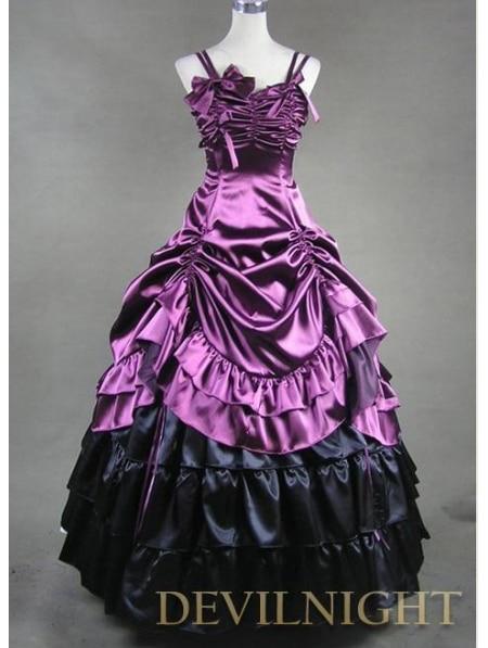 Фиолетовый Готический Викторианской Платье Платья Для Женщин - Цвет: Лаванда