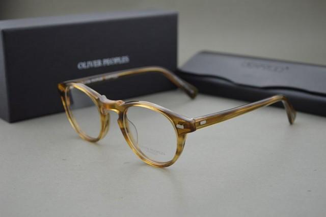 HOT 2016 Pueblos Oliver 5186 Gregory Peck moda ronda marcos de anteojos de La Vendimia hombres y mujeres gafas marco óptico miopía