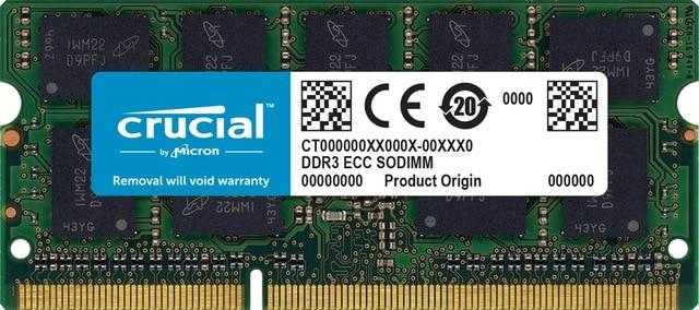 Crucial CT8G3S160BM, 8 GB, 1x8 GB, DDR3, 1600 MHz, SO-DIMM 204 broches