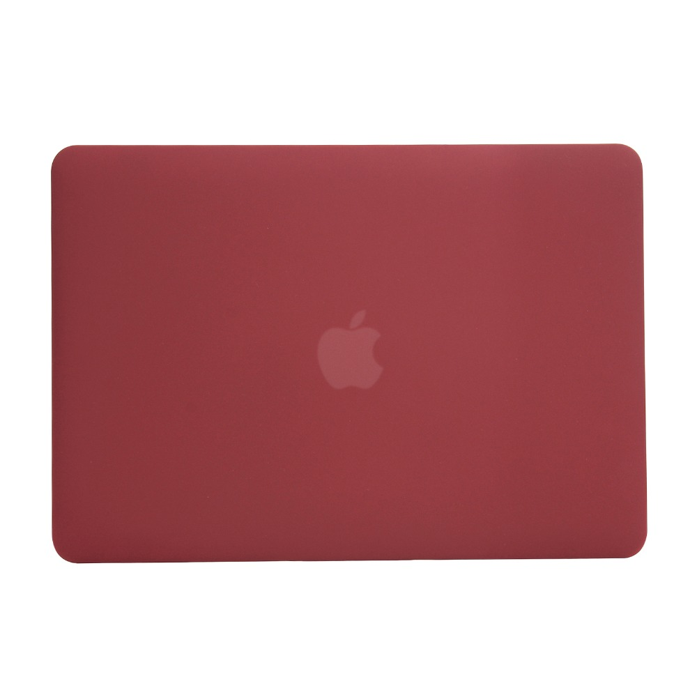 Newest Wine Red Color Matte Case For Macbook Air Pro Retina 11 12 13 13.3 15 15.6 inch Hard Laptop Bag Case For Mac Air Pro 13